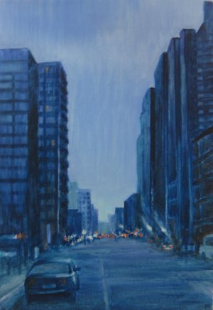 Dominique leconte - City Blue - 54x81