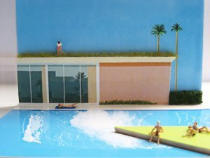 Béatrice Leconte - Hockney swimming pool